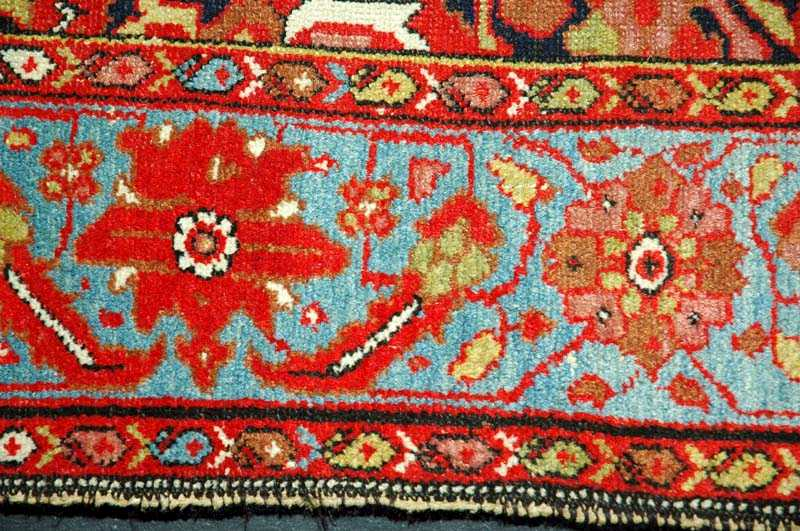 carpet with geometric ornament on white