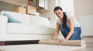 cleaning carpets in a new home
